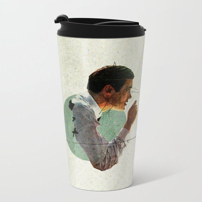 Bland | Collage Metal Travel Mug