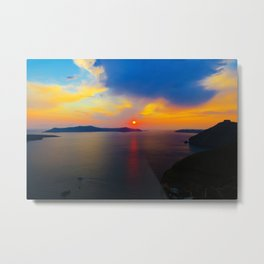 Fira,Sunset Metal Print