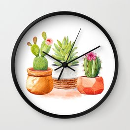 Desert Blooms Wall Clock