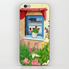 provencal_blue_window iPhone & iPod Skin