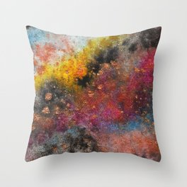 Outside the Galactic Box Throw Pillow