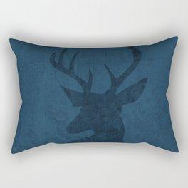 Blue Deer Design Rectangular Pillow