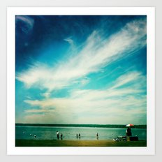 At the Beach Art Print