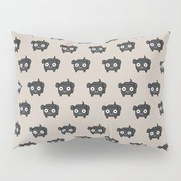 Pitbull Loaf - Black Pit Bull with Floppy Ears Pillow Sham