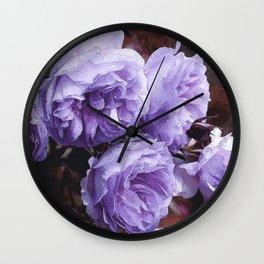 Light lilac Rose Lainie Wall Clock