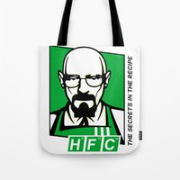 cook Tote Bags featuring The Cook by Ferguccio