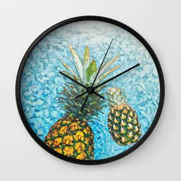 Be a Pinapple V2 #society6 #decor #buyart Wall Clock