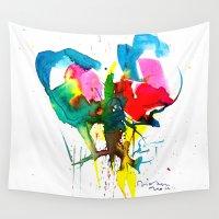 balloon Wall Tapestries featuring Balloon -  by Didem Durukan McFadden