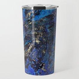 Precious Lapis Lazuli Stone Mineral Blue Gold Travel Mug