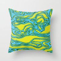 lime green Throw Pillows featuring Lime by Mario Metzler