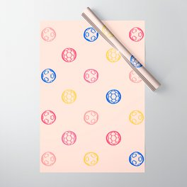Soccer Ball Illustration – Colorful Wrapping Paper