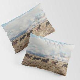 Running Reservation Horses Pillow Sham