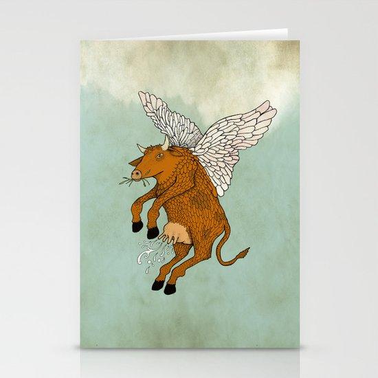 Las vacas voladoras - El día que Stationery Cards