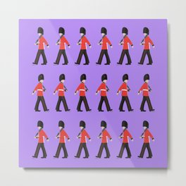 Queens Guard Marching Metal Print