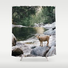 goat creek Shower Curtain