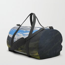 Highland Blue and Green Duffle Bag