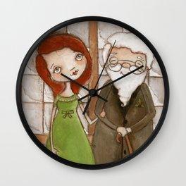 Miracle on 34th Street - Kris Kringle and Doris  Wall Clock