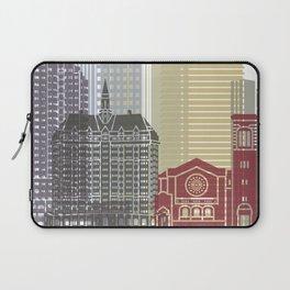 Long Beach skyline poster Laptop Sleeve