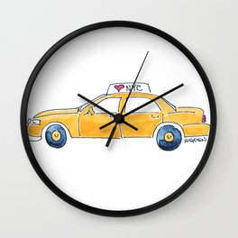 NYC taxi cab Wall Clock