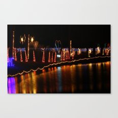 Christmas at the duck pond Canvas Print