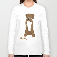 boxer Long Sleeve T-shirts featuring Boxer by digital-couture