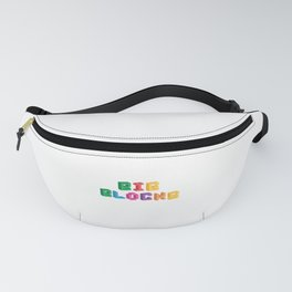 Brick Toys Building Games Builders Plaything I Like Big Blocks Gift Fanny Pack