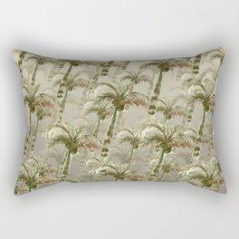 Palm Trees - Earthy Tones Rectangular Pillow