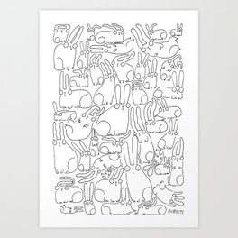 puzzle bunnies Art Print