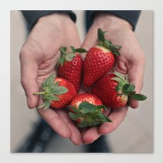Strawberry Hands Canvas Print
