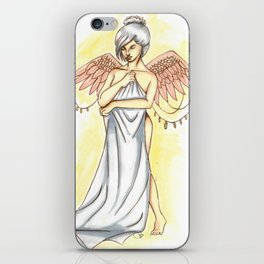 Young angel iPhone Skin