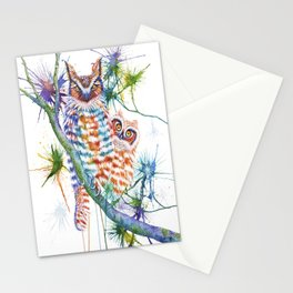 Momma and Baby Owls Stationery Cards