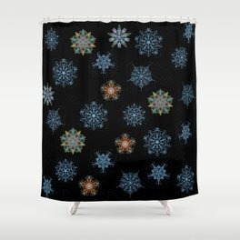 Dancing Snowflakes Shower Curtain