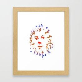 Red Flower Face Framed Art Print