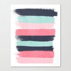 Cecily - abstract paint brush strokes paintbrush brushstrokes boho chic trendy modern minimal  Canvas Print