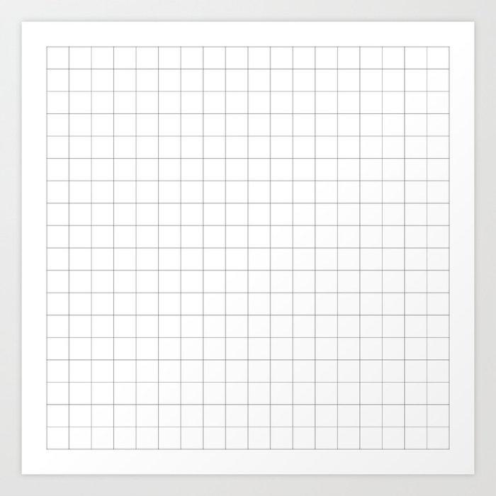 The Minimalist: White Grid Kunstdrucke