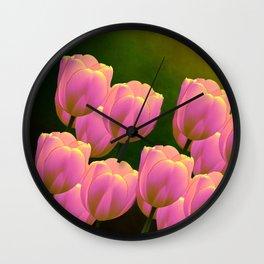 Tulips - Happy Family!  Wall Clock
