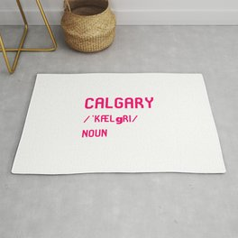 Calgary Alberta Canada Dictionary Meaning Definition Rug