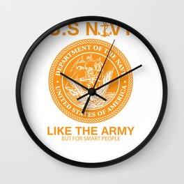 Funny Navy Design United States Navy  Army Parody Wall Clock