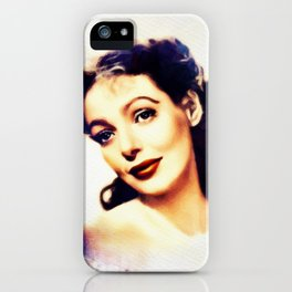 Loretta Young, Vintage Actress iPhone Case