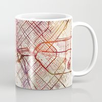 dallas Mugs featuring Dallas by MapMapMaps.Watercolors