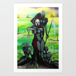 The Four Hoursemen Art Print