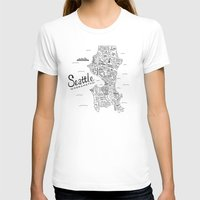 seattle T-shirts featuring Seattle Map by Claire Lordon