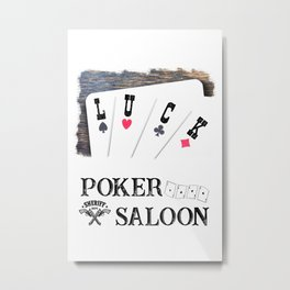 Welcome to the Poker Saloon Metal Print