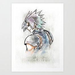 Zack Fair Artwork ( Final Fantasy VII - Crisis Core) Art Print