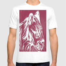 red cougar White MEDIUM Mens Fitted Tee