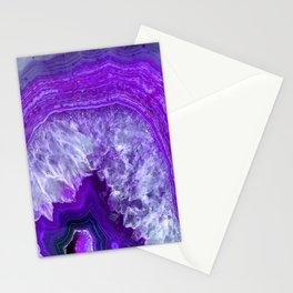 purple stone Stationery Cards