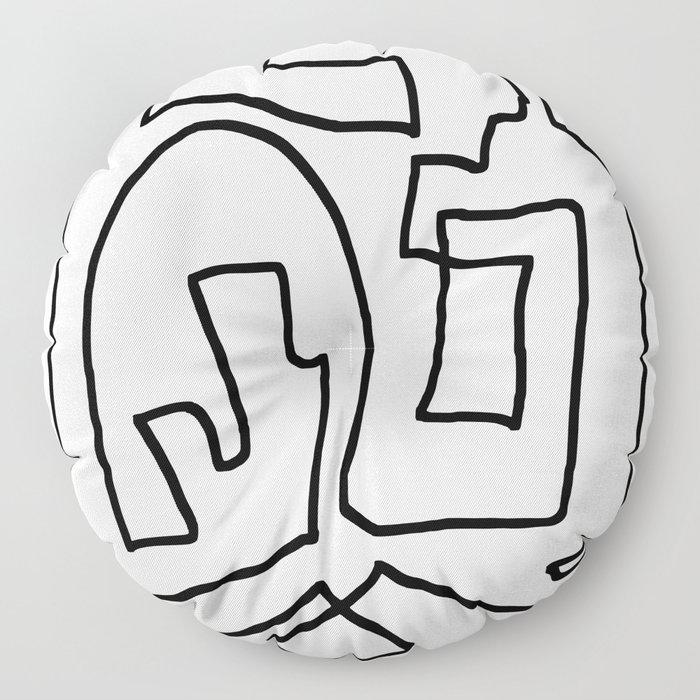 Abstract line art Floor Pillow