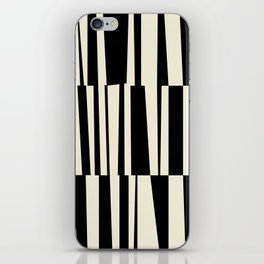 BW Oddities III - Black and White Mid Century Modern Geometric Abstract iPhone Skin