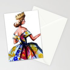 Queen Ball Gown Haute Couture Fashion Illustration Stationery Cards