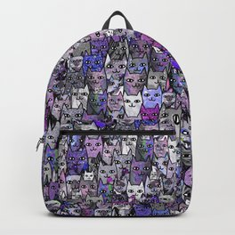 Ultraviolet Gemstone Cats Backpack